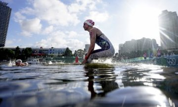 Water like hot soup and 3.45am alarms: just another day for the marathon swimmers